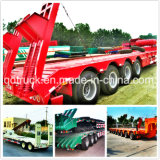Lowbed semi trailer, low loader trailer, 2/3/4 axles low bed trailer