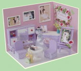 Cheap Wooden Kids DIY Toy Doll House