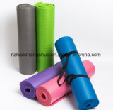 Wholesale High Density NBR Material Anti-Tear Eco Exercise Yoga Mat with Carrying Strap