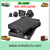 4 Channel Mini Car Vehicle Mobile DVR with WiFi, GPS, 3G, 4G, 1080P Recording