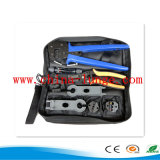 Mc4 Mc3 Crimping Tool Set with Wire Stripper, Mc4 Spanner, Mc4 Pin Lactor, Mc3 30j Dies Combined Tool Kits