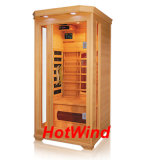 Infrared Sauna Room Family Sauna Canadian Hemlock for 1 Person