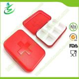 Wholesale Swiss 6 Cases Grid Pill Box; Plastic Pill Case