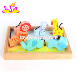 Hot Selling Creative Wooden Zoo Animals Toy for Kids W12f030
