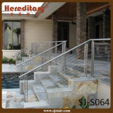 Stainless Steel Outdoor Staircase Deck Handrail Ideas (SJ-S064)