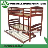 White Color Solid Pine Wood School Bunk Bed Furniture