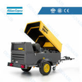 Atlas Copco Diesel Driven Mobile Towable Screw Air Compressor