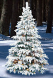 Flocked Christmas Tree in Various Size with LED Light (20years factory)