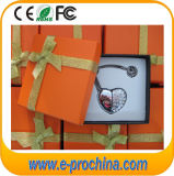 Promotional Gift Jewellery Heart USB Flash Drive with Giftbox (ES538)