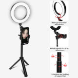 Dimmable Circular RGB Live Show Tiktok Makeup Folded Camera USB Foldable Fill Selfie LED Ring Light with Tripod Stand