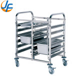 Cheap 4 Wheels Removeable Stainless Steel Trolly