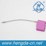 Yh3007 2019 Hot Sale Zipper Padlock Cable Conductor Combination Lock, Cheap Padlocks