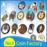 Free Sample Cheap DIY Custom 3D Metal Craft Enamel Armor God Souvenir Spinning Spinner Nypd Seal Us Army Navy Chief Cia Security Police Military Challenge Coin