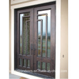 Modern Square Top Wrought Iron Front Door (UID-D077)