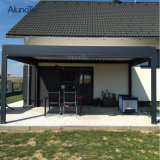 Modern Garden Aluminum Patio Roof Pergola Gazebo with Side Screen
