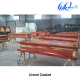Solid Red Cedar Chinese Adult High Gloss with Embroidery Coffin and Casket