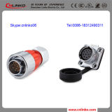 400V 5A 12pin IP67 Waterproof Connector with UL Approved for Signal