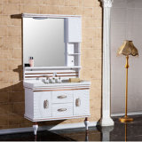 Modern Style PVC Bathroom Vanity with Mirror Wall Mounted