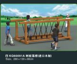 Kaiqi Rose Wood Swinging Bridge Equipment in Outdoor Playground (60091A)