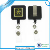 Promotional Gifts Square Retractable ID Badge Reel