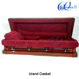 Dark Red Gloss High Gloss Luxury Coffin and Casket