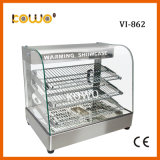 Ce Approved Stainless Steel Arc Glass Electric Pizza Food Snack Bread Buffet Warming Display Showcase for Kitchen Equipment