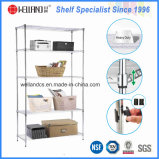 Household 5 Tiers Chrome Plated Metal Wire Rack Factory
