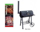 Camping BBQ Smoker Grill with Chimney and Wheels