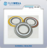 Combined Seal Ring Spiral Wound Gasket Cgi Type SS304 SS316L CS Materials