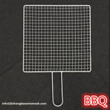 Portable Stainless Steel BBQ Barbecue Grilling Basket Mesh with Metal Handle