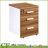 Low Movable Melamine 3 Drawers Cabinet with Wheels