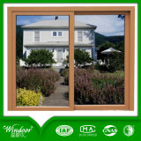 Wooden Printed PVC Sliding Window with European Standard