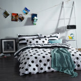 Home Textile Black and White Cotton Printed Bedding Product