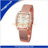 Rose Golden Plated All Stainless Steel Chain Wrist Watch