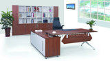 Melamine Walnut Office Executive Manager Table (HF-B273)