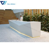 Wholesale Curved Luxury Hotel Lighted Reception Desk