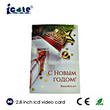 2.8 Inch LCD Video Product Promotion Card with 128MB 300mA
