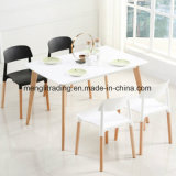 Modern Wood Legs PP Plastic Dining Italian Design Restaurant Chairs