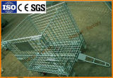 Steel Wire Mesh Pallet Cage for Warehouse Storage with Wooden Pallet