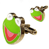 Customized Printed Frog Logo Cuff Link
