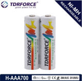 1.2V (HR03-AAA 700mAh) Rechargeable Low Self Discharge Nickel Metal Hydride China Fatory Battery