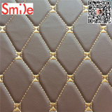 High Quality Embroidery Leather with Foam Car Seat Covering