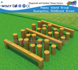 Outdoor Gym Fitness Timber Pile Playground Equipment Hf-17702
