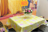 Custom Made High Quality Waterproof Plastic Disposable Table Cloth of Pure Color