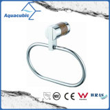 Wall-Mount Polished Chromed Brass Towel Ring (AA6713)