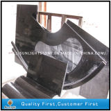 Natural Polished Black Galaxy Granite Steps for Hotel Stair Treads