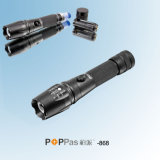 CREE Xm-L T6 Aluminium Zoom LED Flashlight (POPPAS- 868)