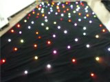 DJ RGB Tricolor LED Star Light Curtain, LED Star Curtain for Festival Stage Decoration