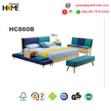 Hot Sale Wooden Home Furniture Kids Fabric Bed in Bedroom Furniture (HC860)