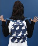 Deep Blue and Snowman Printing Mini Backpack